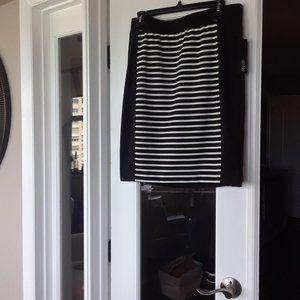 Apt 9- black and white pencil skirt